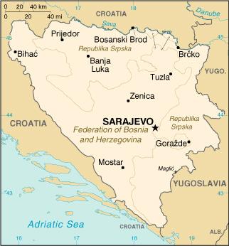 Découvrez la Bosnie Herzégovine sur Passeport Monde: carte