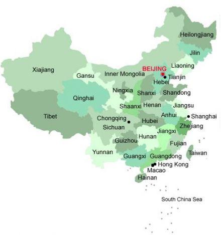 Carte Chine Hunan.Passeport Monde Pour La Chine Carte Des Provinces